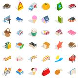 Sweet icons set, isometric style. Sweet icons set. Isometric style of 36 sweet vector icons for web isolated on white background Royalty Free Stock Photo