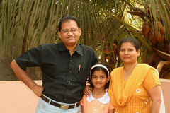 Sweet Indian family Stock Image