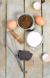 Sweet ingredients for cake Royalty Free Stock Photography