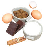 Sweet ingredients for cake, isolated Royalty Free Stock Photo