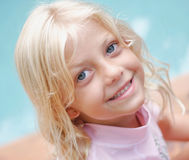 Sweet an innocent. A close up of a little girl smiling Royalty Free Stock Images