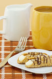 Sweet Italian Cannoli With Coffee Stock Photography