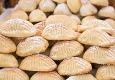 Sweet italian marzipan biscuits Stock Image