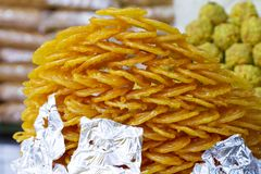 Sweet Jalabi. Indian delicious sweet food Jalabi Stock Photos
