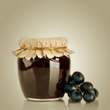 Sweet jam and fresh berries Royalty Free Stock Photos