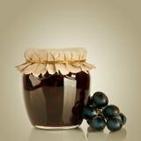 Sweet jam and fresh berries Royalty Free Stock Photos