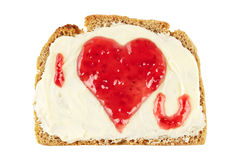 Sweet jam heart Stock Photos