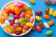 Sweet jelly beans. Royalty Free Stock Photography