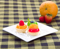 Sweet jelly cupcake Stock Image
