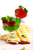 Sweet jelly dessert in elegant goblet Stock Photo