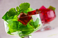 Sweet jelly dessert in elegant goblet Royalty Free Stock Photo