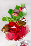 Sweet jelly dessert in elegant goblet Royalty Free Stock Photography