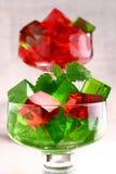 Sweet jelly dessert in elegant goblet Stock Image