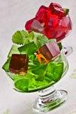 Sweet jelly dessert in elegant goblet Royalty Free Stock Image