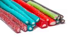 Sweet jelly licorice candy sticks with different flavor Stock Photography