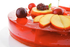Sweet jelly pie with apricot and watermelon Stock Photography