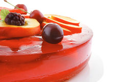 Sweet jelly pie with apricot and watermelon Royalty Free Stock Image