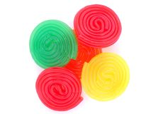 Sweet jelly spirals Royalty Free Stock Images