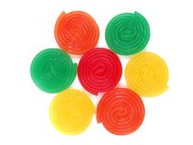 Sweet jelly spirals Stock Photo