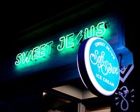 Sweet Jesus Ice Cream Shop royalty free stock photography