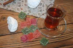 Sweet joy of pastry gourmet stock photos