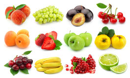 Sweet and juice fruits stock images