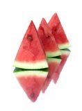 Sweet juicy watermelon. With reflection isolated on white background Stock Photo