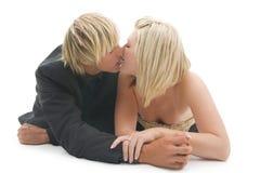 Sweet kiss. Stock Photos