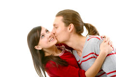 Sweet kiss Stock Image