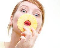Sweet kiss stock images