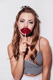 Sweet kiss. Stock Images