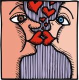 Sweet kiss illustration Stock Images