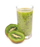 Sweet kiwi fruit and smoothie Stock Photography