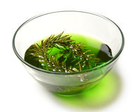 Sweet kiwi and lime jam in the transparent glass bowl Stock Images