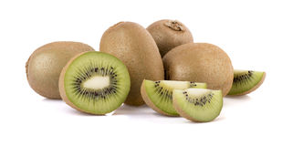 Sweet kiwi. A lot of sweet kiwi on white background with shadows Stock Photography