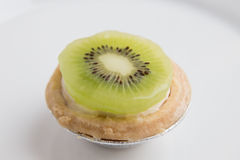Sweet kiwi tart Stock Photos