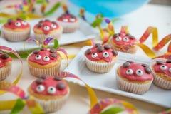 Sweet Ladybug muffins Royalty Free Stock Photos