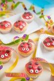 Sweet Ladybug muffins Stock Images