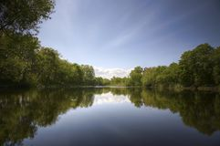 Sweet lake. Beautiful day kind of lake with reflexions in water royalty free stock photos