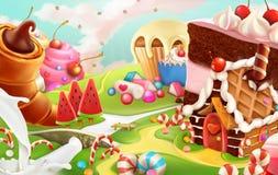 Sweet landscape background vector illustration