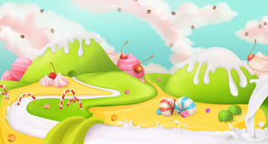 Sweet landscape background stock illustration