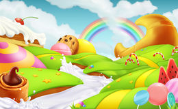 Sweet landscape. vector background Royalty Free Stock Images