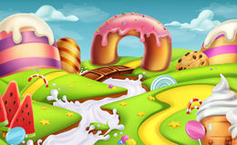 Sweet landscape. vector background Stock Photos
