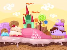 Sweet landscape. Vector illustration with a sweet landscape Royalty Free Stock Photography