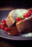 Sweet lava cake Stock Photography