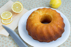 Sweet lemon cake Stock Photos