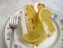 Sweet Lemon Cake Royalty Free Stock Photography