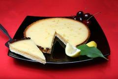 Sweet Lemon Dessert. A tasty home made lemon tart stock photography