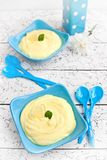 Sweet lemon mousse Royalty Free Stock Images