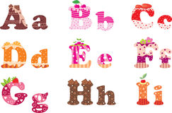 Sweet letters of the alphabet Royalty Free Stock Image